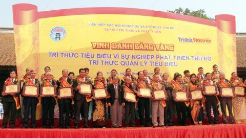 Vinh danh bảng vàng tri thức tiêu biểu vì sự nghiệp phát triển thủ đô tri thức quản lý tiêu biểu