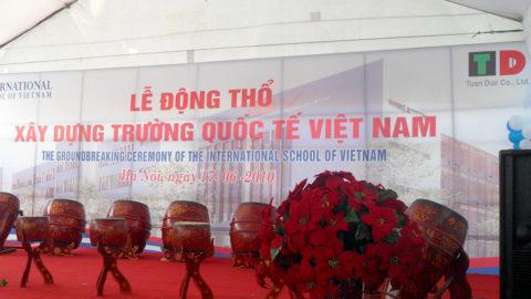 Lễ động thổ Trường Quốc tế Việt Nam