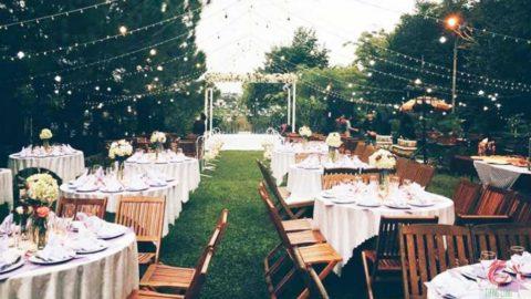Ý tưởng tiệc cưới sân vườn