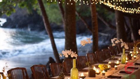 Tổ chức đám cưới buổi tối đầy lãng mạn