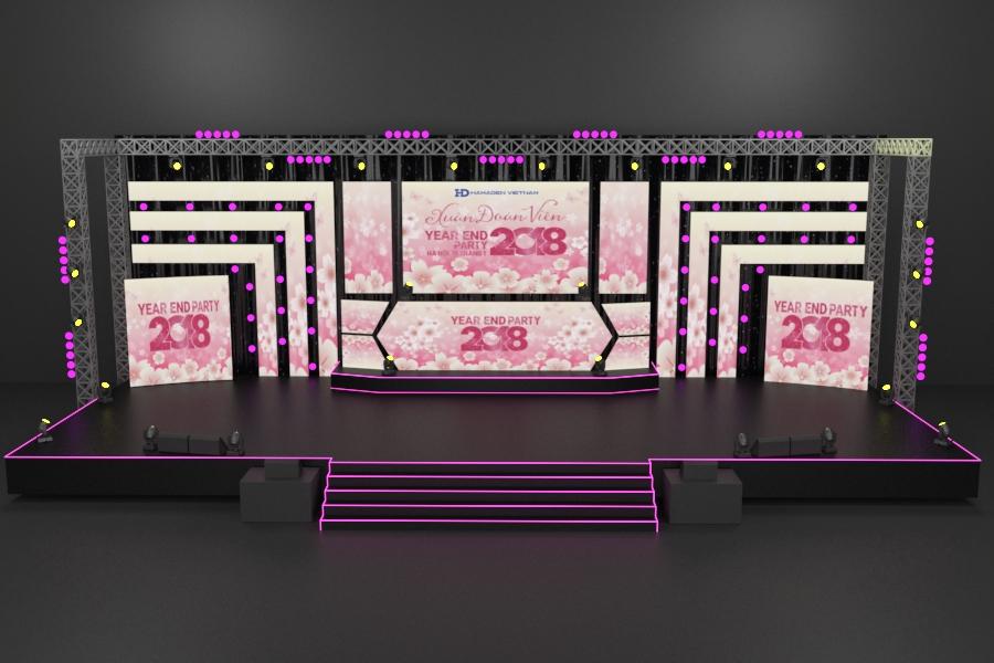 Sân khấu sự kiện cuối năm