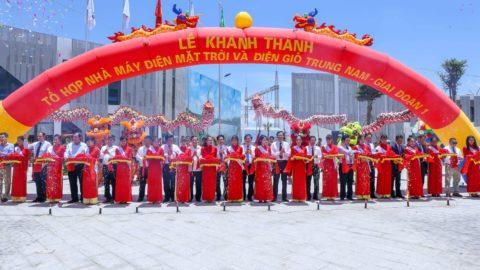 Lễ khánh thành nhà máy điện mặt trời và điện gió Trung Nam- giai đoạn 1
