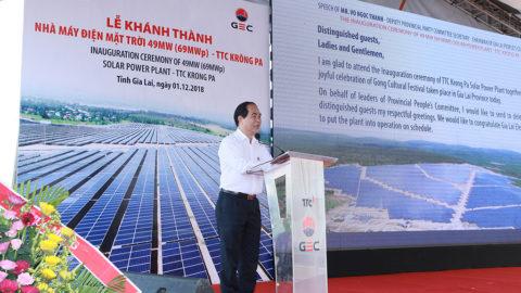 Quy trình tổ chức lễ khánh thành nhà máy điện mặt trời, điện gió hợp phong thủy và chuyên nghiệp
